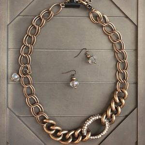 Beautiful embellished large chain linked necklace